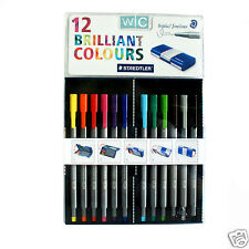 STAEDTLER Triplus Fineliner 334 Mb12 Colour Pen 0.3mm Student Magic Pencil Case