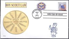BOY SCOUT LAW   CHARACTER COUNTS   SCOUTING   BSA      FDC- DWc  CACHET