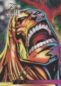 Trading card Flair Marvel Annual - Metalhead (104)