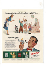 MAY 1953 SATURDAY EVENING POST ZIPPO LIGHTER FOR DAD AD PRINT D086