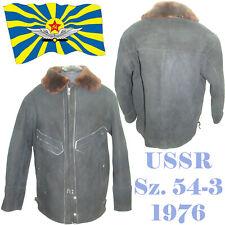 RARE Vintage Sz.54-3 SOVIET PILOT AIR FORCE INTERCEPTOR BOMBER FUR-COAT 1976