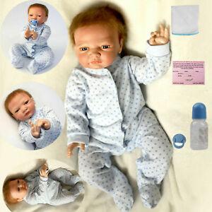 """20"""" Lifelike Dolls Baby Realistic Boy Silicone Vinyl Handmade Newborn Doll Gift"""