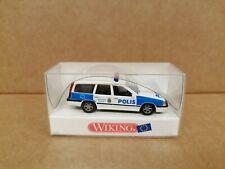 Wiking 1:87 HO - Volvo 850 Polis Sweden - Swedish Police - Model 10406 MIB