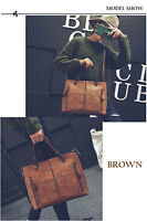Vintage Handbag Large Capacity Scrub Leather Shoulder Bag Ladies Tote Cross body