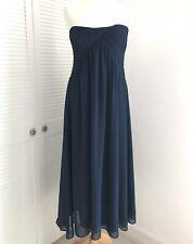Truly You Bandeau Dress Size 20 Midi Strapless Navy Blue Floaty Wedding Prom