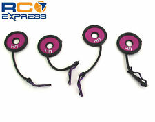 Hot Racing Body Clips w/ Rubber Leash and Body Washer (Purple) BWP133B07