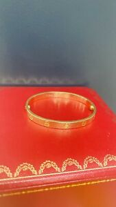 Cartier LOVE Yellow Bracelet - Size 17 with Authentication Documents