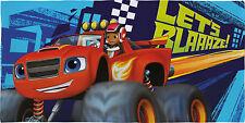 Official Licensed Blaze AJ & Monster Truck Algodón Toalla de playa niños nuevo