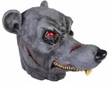 ZOMBIE KILLER RAT MASK OVERHEAD LATEX SCARY PROP HALLOWEEN COSTUME ACCESSORY