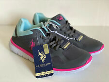 NEW! U.S. US POLO USPA WOMEN'S GRAY GREEN PINK RUNNING TRAINING SHOES 7 37 SALE