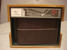 J. FOLD SLIMFOLD THUNDERBIRD SLIMFOLD BROWN WALLET N11185/01 - BRAND NEW - NWT