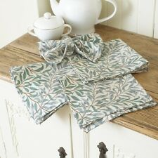 William Morris Willow Bough Green Pack of 4 Cotton Floral Napkins.