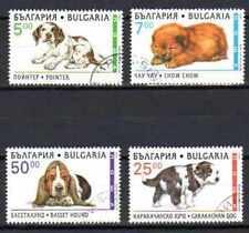 Chiens Bulgaria (8) serie completa di 4 francobolli timbrati