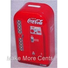 Coke Coca-Cola Soda Machine Piggy Coin Bank - FREE SHIPPING