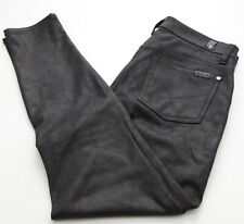 Seven for All Mankind Black Stretch Sueded Skinny Jeans Leggings SZ 28 EUC J1113