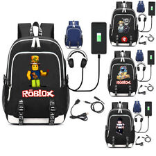 Game Roblox USB Backpack Schoolbag Bookbag Laptop Travel Shoulder Bags