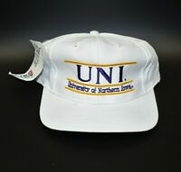 Northern Iowa Panthers The Game Split Bar Vintage 90s Snapback Cap Hat - NWT