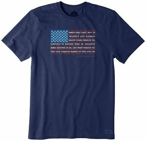 Life Is Good Mens Anthum Flag T-Shirt