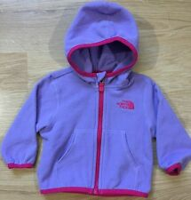The North Face Full Zip Fleece Baby Toddler Size 3-6 Months Purple And Pink