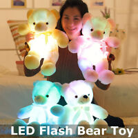 50cm LED Flash Teddy Bear Colorful Stuffed Animals Plush Toy Soft Hug Baby New