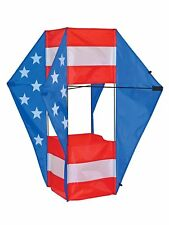 Winged Box Kite In The Breeze Stars and Stripes Weather Resistant Ripstop Fabric