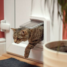 Microchip Entry Cat Flap Reader Home Animal Control Pets Manual Lock Accessory