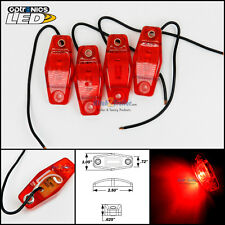 4 - Optronics Red LED light Clearance Marker Trailer Truck Surface Mount 1 wire