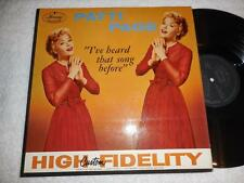 PATTI PAGE I've heard that song before 1957 MERCURY ORIG FEMALE JAZZ LP NICE