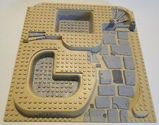 LEGO 3D Base Plate 3 Levels in Beige or Tan  32 x 32 Studs - Ramp, Pit & Stairs