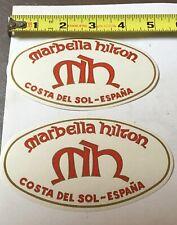 Marbella Hilton Hotel Costa del Sol Spain luggage  Baggage label lot of 2