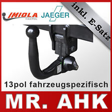 e-S Hook VW Passat 3c BERLINA STATION WAGON 05-10 AHK gancio di traino rimovibile 13pol spe