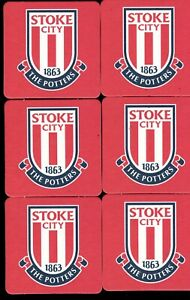 STOKE CITY F.C. Pack of Official Crested Beer Mats / Coasters FREE POSTAGE UK