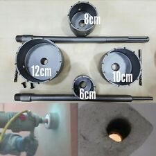 FRESE A TAZZA CAROTATRICE 8PZ DA MURO  60 80 100 120 mm TRAPANO SDS PLUS MAX