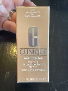 Clinique Even Better Makeup SPF 15. Evens And Corrects. CN 52 Neutral (MF)