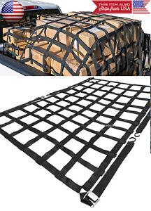 """66""""x50"""" 1100LBS Heavy Duty polyester Cargo Net Webbing w/ Cam Buckles For Truck"""