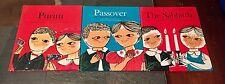 3 Vintage Jewish Holiday Books Purim, The Sabbath, and Passover Sophia Cedatbaum