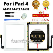 For White iPad 4th A1458 A1459 A1460 Touch Screen Digitizer Replacement Glass