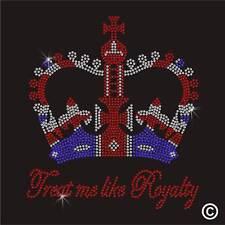 Hotfix Rhinestone Transfer Royalty Crown Diamante Iron on Crystal Motif Applique