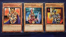 Yugioh! - King's / Queen's / Jack's Knight - Set YGLD - 1st Edition NM/M Playset