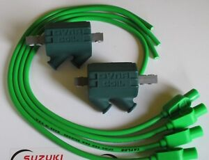 Kawasaki GPZ1100 Dyna Performance Ignition Coils and Taylor Leads. Lime Green !