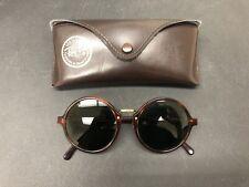 Vintage Ray Ban B&L Wo925 Round Tortoiseshell Sunglasses w/ Case *See Details*