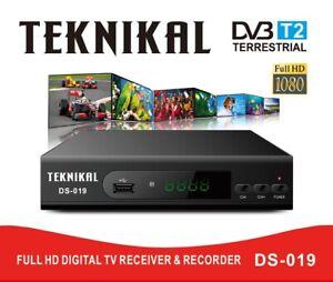 UK Freeview HD Set Top Box plus RECORDER Digital TV Receiver Box & USB Socket