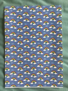 Rainbows/Thank You NHS Thick Fabric/Paper Coloured A4 Sheet