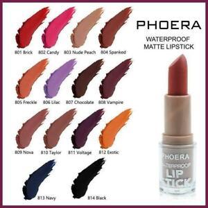 PHOERA 24Hr Waterproof Matte LIPSTICK Long Lasting Lip Moisturise Velvety Lip