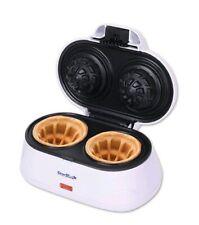Double Belgian Waffle Bowl Maker Electric Iron Press Kitchen Top Non Stick NEW..