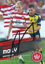✺Signed✺ 2013 2014 WESTERN SYDNEY WANDERERS A-League Card AARON MOOY