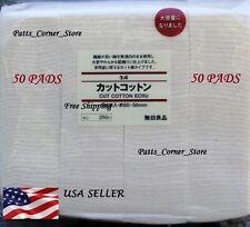 Muji Japanese Organic Cotton  {50 PADS}  Unbleached 100% Natural Vape Wick