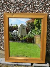 Natural Pine Wooden Framed Mirror