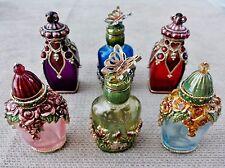 New Vintage Art Deco MONET Enamel Glass Perfume Bottles Collections - 6 Styles