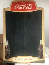 1950's Coca Cola Cardboard Chalkboard